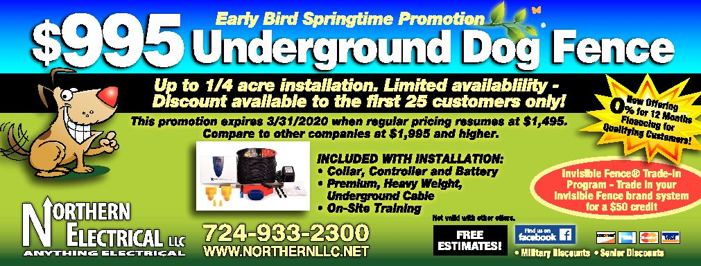 Early-bird Springtime Promotion - $995 Underground Dog Fence 1